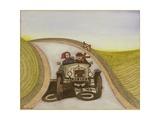 Motorcar, 1985 Giclee Print by Gillian Lawson
