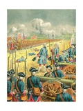 The Battle of Fontenoy Giclee Print by Frederic Theodore Lix