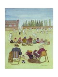 Cricket on the Green, 1987 Giclee Print by Gillian Lawson