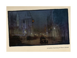 A Gothic Fantasy of Fleet Street, from 'The New Lights O' London', Published 1926 Giclee Print by Donald Maxwell