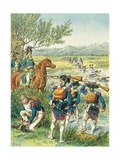 The Battle of Zurich - Crossing the Lintz Giclee Print by Frederic Theodore Lix