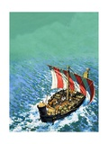 Phoenician Sailing Vessel Giclee Print by  English School