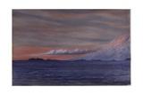 Mount Erebus, 6pm, Aril 2, 1911 Giclee Print by Edward Adrian Wilson