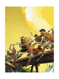 Horatius at the Bridge Giclee Print by Severino Baraldi