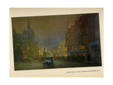 Ancient and Modern in Holborn, from 'The New Lights O' London', Published 1926 Giclee Print by Donald Maxwell