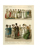 French and German Costumes 1804-1830 Giclee Print by Albert Kretschmer