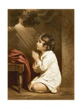 The Infant Samuel Giclee-trykk av Sir Joshua Reynolds