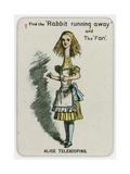 Alice Telescoping Giclee Print by John Tenniel