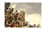 Pict Warriors Invade Britain Giclee Print by Peter Jackson