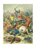 Philip Augustus at the Battle of Bouvines Giclee Print by Frederic Theodore Lix
