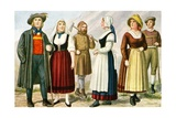Peasants of Germany Giclee Print by Tancredi Scarpelli