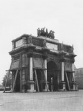 The Carrousel Triumphal Arch Protected by Sand Bags, Tuileries, Paris, 1918 Photographic Print by Jacques Moreau