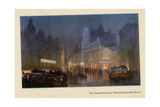 The Grand Canal of Tottenham Court Road, from 'The New Lights O' London', Published 1926 Giclee Print by Donald Maxwell