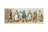England Costume Giclee Print by  French School