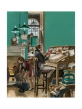 Victorian Office Giclee Print by Peter Jackson