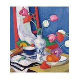 Red Chair and Tulips, c.1919 Giclee Print by Samuel John Peploe