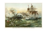 Naval Duel Between the Constitution and Guerriere Giclee Print by  North American