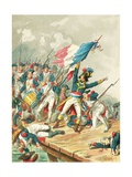 Napoleon Bonaparte at Pont d' Arcole Giclee Print by Frederic Theodore Lix