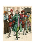 The Editor John Wilkes Being Sent to Prison for Attacking the Government Giclee Print by Ralph Bruce