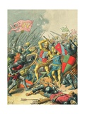 King John at the Battle of Poitiers Giclee Print by Frederic Theodore Lix
