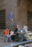 Street Merchant with His Family, Haret El Medah Street, Cairo, 2007 Photographic Print