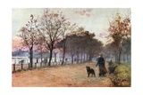 By the Ring, Hyde Park: Evening Giclee Print by Rose Maynard Barton