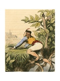 Jack at the Top of the Beanstalk Giclee Print by Charles West Cope