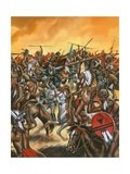 Battle of Little Bighorn Giclee Print by Ron Embleton