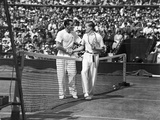 Fred Perry and Von Cramm at Wimbledon, 5th July 1935 Photographic Print by  English Photographer