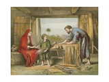 Jesus at Home Giclee Print by  English School