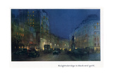 Knightsbridge in Black and Gold, from 'The New Lights O' London', Published 1926 Giclee Print by Donald Maxwell
