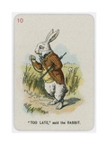 Too Late, Said the Rabbit Giclee Print by John Tenniel