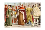 Tuscan Costumes of the 14th Century Giclee Print by Tancredi Scarpelli