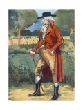 A Man of the Time of George III 1760-1820 Giclee Print by Dion Clayton Calthrop