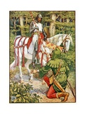 Lyttel John and the Knyghte Giclee Print by Walter Crane