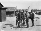 French Gendarme and Russian Soldiers at the Camp of Mailly, Marseille, 1916 Photographic Print by Jacques Moreau
