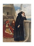 Mary Sails from France: Her Farewell to That Country Giclee Print by Sir James Dromgole Linton