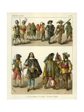 Netherlands Costumes 1600 Giclee Print by Albert Kretschmer