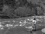 Girl Fishing, c.1935 Photographic Print by George Lytle Beam