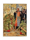 Robin Hood and His Men Kneel to the King Giclee Print by Walter Crane