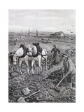 Farmers Working Ruined Fields, 1918 Giclee Print by Amedee Forestier