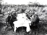 King George V Having Lunch in the Chitwan Valley During a Tiger Shoot, 1911 Photographic Print by  English Photographer