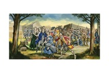 Massacre at Fort William Henry Giclee Print by Ron Embleton