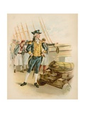 John Paul Jones, First Captain of the Us Navy Giclee Print by  North American