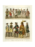 German Costumes 1700 Giclee Print by Albert Kretschmer