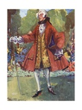 A Man of the Time of George II 1727-1760 Giclee Print by Dion Clayton Calthrop