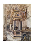 Monument of Mary, Queen of Scots, in Henry VII's Chapel Giclee Print by John Fulleylove