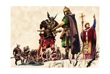 Vikings Concede Defeat Giclee Print by Peter Jackson