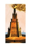 Pharos Light Invented by Ptolemy Giclee Print by Ron Embleton