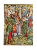 The King Joins the Hands of Robin Hood and Maid Marian Giclee Print by Walter Crane